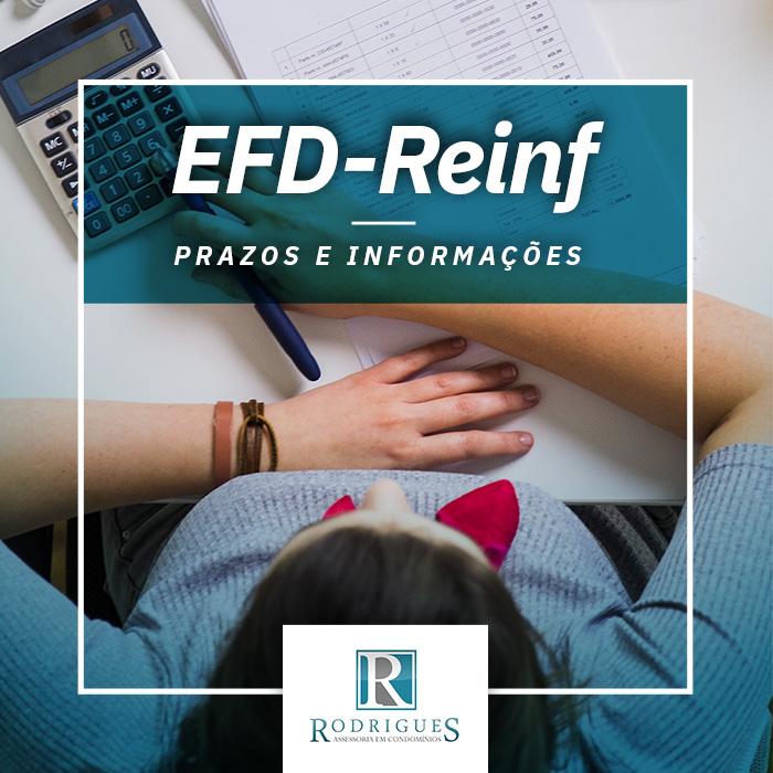 EFD-REINF – Prazos e informações relevantes