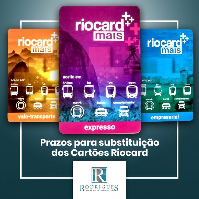 Prazos para substituição dos Cartões Riocard