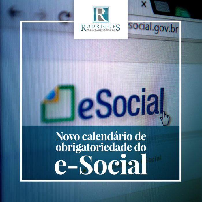 Novo calendário de obrigatoriedade do e-Social