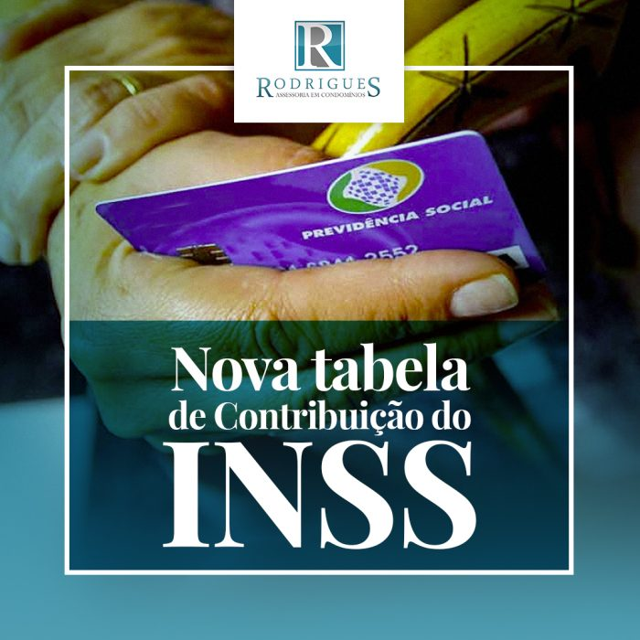 Nova tabela de Contribuição do INSS
